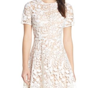Cute Chelsea28 Floral Lace A-Line Dress